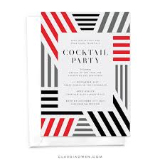 cocktail party dinner party invitation modern invitation