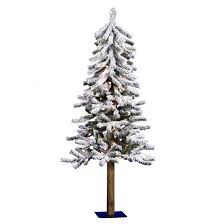 4ft pre lit artificial tree white flocked clear lights