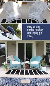 Best Spray Paint For Metal Patio Furniture - best 25 spray paint wicker ideas on pinterest spray painted