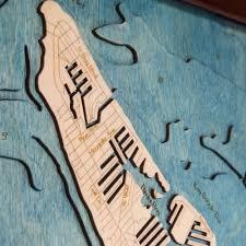 Anna Maria Florida Map by Anna Maria Island Fl Wood Map 3d Nautical Chart Framed