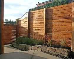 wood fences ideas creative brick and wood fence design wood fence