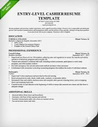 Resume Example Entry Level by Cashier Resume Sample U0026 Writing Guide Resume Genius