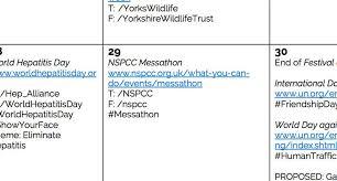 sample social media calendar social media strategy and planning