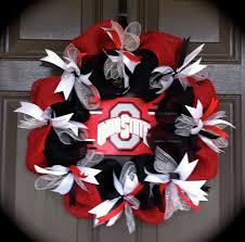 ohio state tattoos designs ohio state wreath osu wreath buckeye wreath red and black