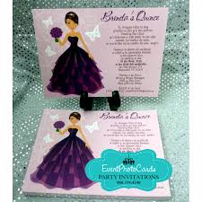 quinceanera party invitations unique quince invitations with doll