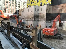 excavation underway at moinian u0027s 572 11th avenue in hell u0027s kitchen