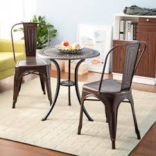 Stackable Dining Room Chairs Amazon Com Merax Set Of 4 Metal Chairs Stackable Dining Room