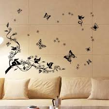 walplus removable vinyl wall art sticker dancing butterflies and