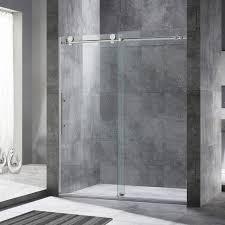 5 Shower Door Shower Woodbridgerameless Sliding Shower Door Excellent Ebay