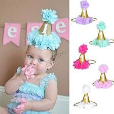 hair bands for baby girl 1st birthday crown flower tiara headband baby party hair