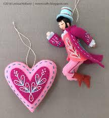 Felt Heart Christmas Ornaments Mmmcrafts