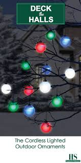 the cordless lighted outdoor ornaments this set of four battery