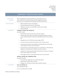 Hedge Fund Resume Sample by Prop Trader Resume Examples Contegri Com