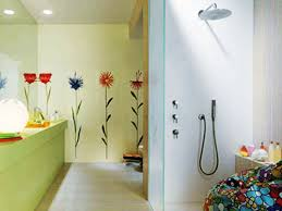ideas for painting bathrooms painted wall tiles simple ways to decorate bathroom and