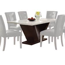 Acme Dining Room Furniture Acme Furniture Forbes White Marble And Walnut Dining Table Free