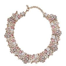 light pink necklace images Green and pink statement necklaces jpg