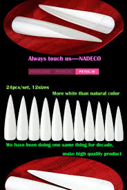 manufacturer clear extra long pointed french salon nail art fake