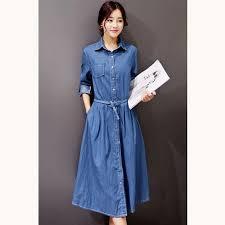 aliexpress com buy 2017 new women denim dresses autumn casual