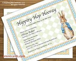 rabbit invitation rabbit baby shower invitations free card design ideas