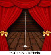 Curtains On A Stage Stock Photo Of Silver Stage Curtains Silver Curtains On A