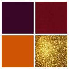 eggplant cranberry burnt orange and gold color scheme gold