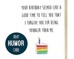 funny humor birthday card for friends and family cardigan