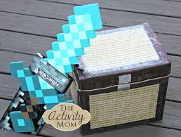 the activity mom diy minecraft chest