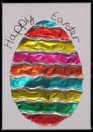 colored tin foil easter card u2013 easycraftsforchildren