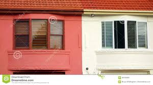 bay windows semi detached houses stock photo image 89108860
