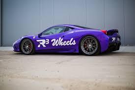 purple ferrari ferrari 458 speciale u2013 milka u2013 r3 wheels