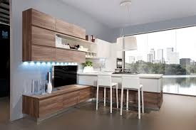 cuisine bois et cuisine bois et blanc laque blanche plan de travail homewreckr co