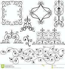 wrough iron ornaments stock vector image of header exquisite