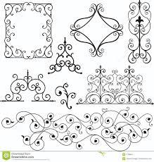 wrough iron ornaments stock vector illustration of header 3739684