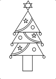 how to draw a decorative tree using geometrical shapes