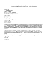 Community Resume Sample Community Service Letter Resume Cover Letter Template
