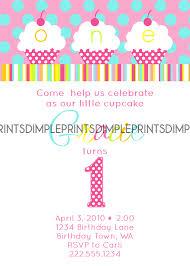 design printable cupcake first birthday invitation with high