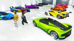 rainbow garage buying the best cars w the crew gta 5 ps4