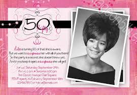50th birthday party invitations ideas cimvitation