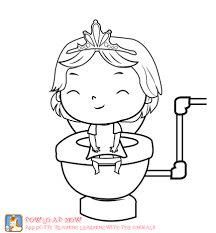 potty training coloring page part of a fun potty training