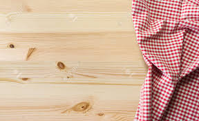Wooden Table Background Vector Tablecloth Over Wooden Table With Copy Space Stock Photo Picture