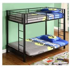 Black Metal Futon Bunk Bed Kid Bunk Bed Futon Bunk Beds Bedroom Furniture