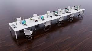 office bench desk for the open plan office office architect