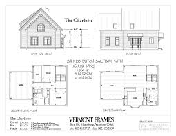 Floor Plan Front View by Charlotte Dutch Saltbox Vermont Frames