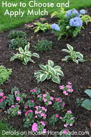 Mailbox Flower Bed How To Choose And Apply Mulch To Your Flower Beds Hoosier Homemade