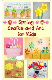 spring crafts and art for kids cheer and cherry