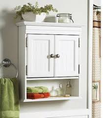 Bathroom Wall Cabinets White White Cottage Style Bathroom Wall Cabinet Storage Shelf