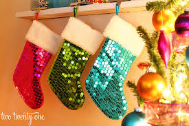 Christmas Stocking Decorations With Glitter by Christmas Decor Part One Our Big Christmas Tree