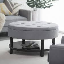 Funky Ottoman Furniture Cocktail Ottoman Coffee Table Tufted Fabric Coffee