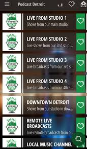 live shows in our main studio podcastdetroit com