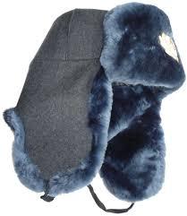 russian police militsia mvd blue mouton ushanka hat